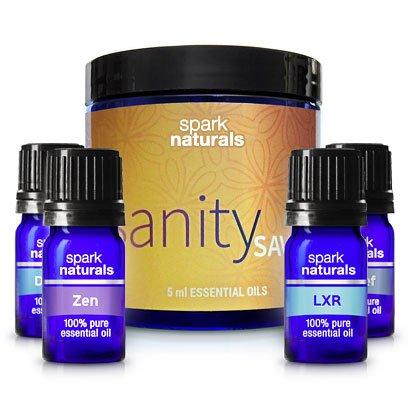 Spark Naturals Sanity Saver Kit 100% Pure Essential Oil Blends