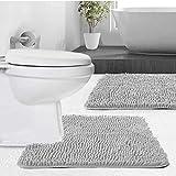 Gorilla Grip Soft Chenille Bathroom Rug Set, 2