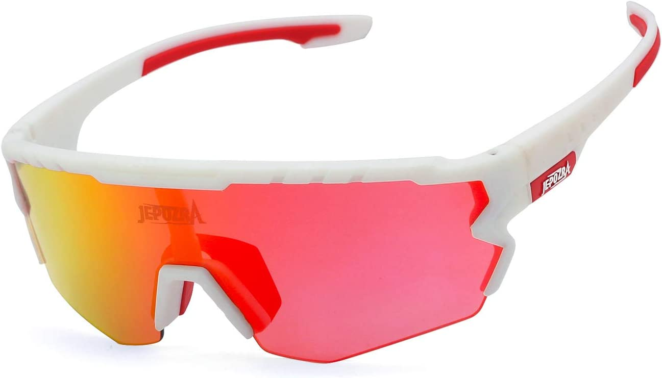 TOPTETN Polarized Sports Sunglasses with Interchangeable Lenes Cycling Running Glasses