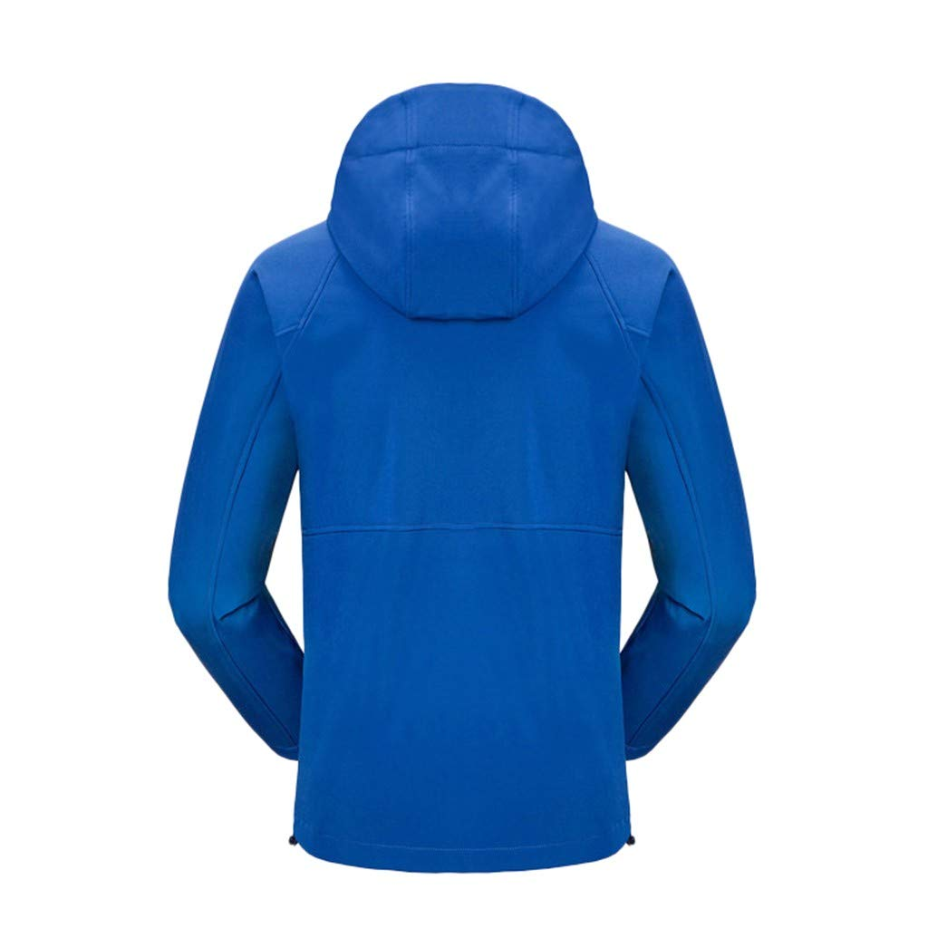 Men Winter Hooded Tops Softshell Windproof Waterproof Soft Coat Shell Jacket