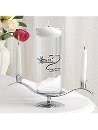 Personalized Floating Wedding Unity Candle Personalized Wedding Candle Happily Ever After