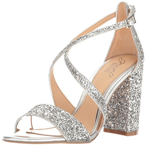 Women's Sandal Silver Cook Mischka Dress Badgley Jewel TwxqFREB