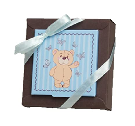 Juego de 2 caja de gominolas theme oso azul – Doudou – azul y Chocolate para