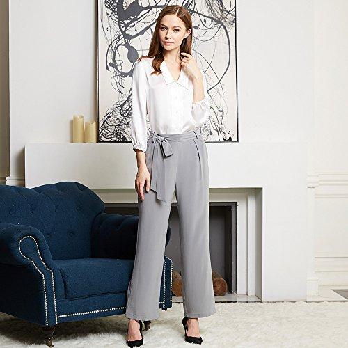 Lilysilk Pantalones Mujeres Holgados 100% Seda Natural 18MM-Super cómodos y transpirables