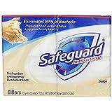 Safeguard Antibacterial Beige Bar Soap, 4 Ounce 8 Bars