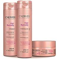 Kit Cadiveu Cuidados Diários Hair Remedy: Shampoo 250ml + Condicionador 250ml + Máscara 200ml, Repara 80% Dos Danos Na Primeira Aplicação