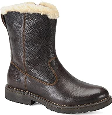 Amazon.com | Men's Born Theodore Shearling-Lined Leather Boots ...