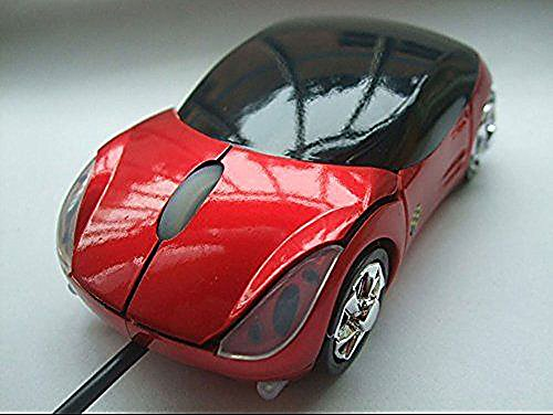 Red Car Shaped USB Computer Wired Optical Mouse Mice for Notebook Laptop (Disney World Marathon Costumes)