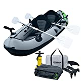 Elkton Outdoors Comorant 2 Person Kayak, 10 Foot 2 Person Inflatable Fishing Kayak, Full Kit!