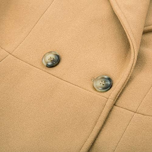 Curlbiuty Damen Vintage Anzugjacke Langarm Umlegkragen R/üschedecoration Blazer Elegant Business Mantel Jacke