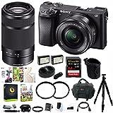 Sony a6300 Mirrorless Digital Camera w/ 16-50mm & 55-210mm Lens Bundle