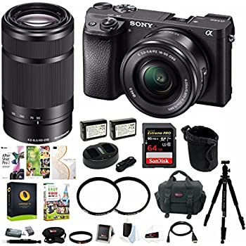 Sony a6300 Mirrorless Digital Camera w/ 16-50mm & 55-210mm Lens Bundle