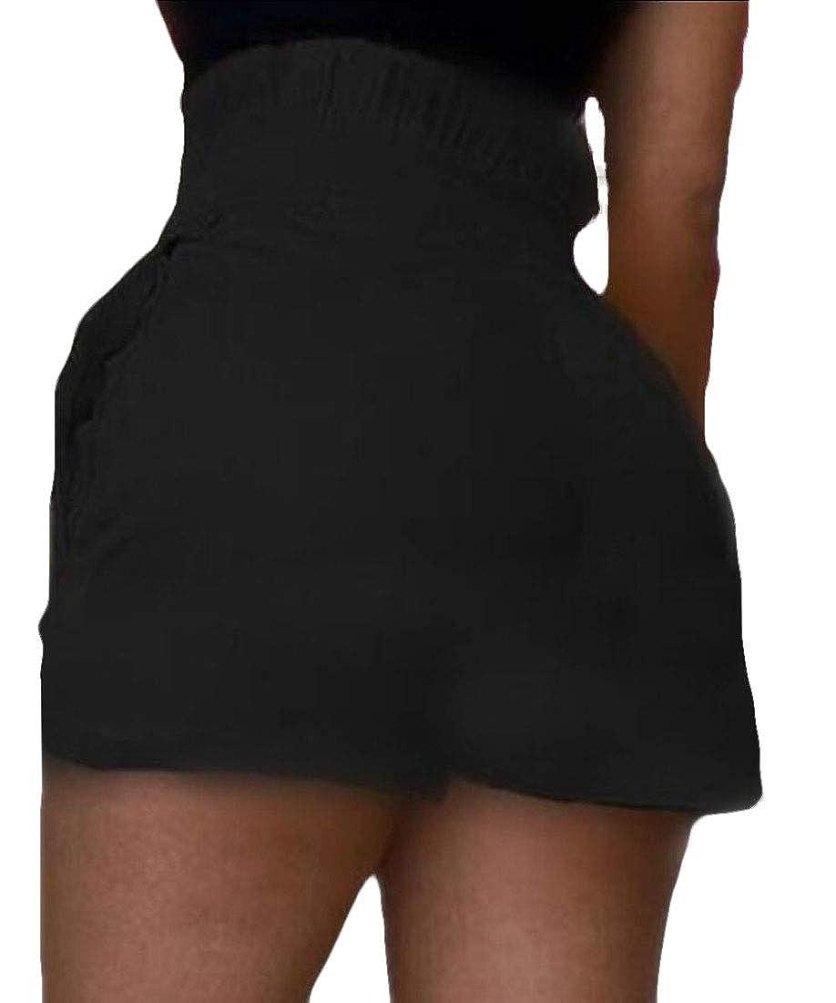 mydeshop Women Fashion Summer High Waist Hot Shorts Wide Leg Pants with Belt Knot