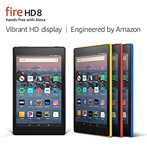 "Fire HD 8 Tablet (8"" HD Display, 16 GB) - Black (Previous Generation - 8th) 16"