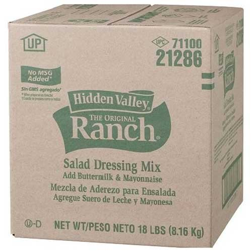 Hidden Valley The Original Buttermilk Ranch Salad Dressing Mix, 18 Pound -- 1 each.