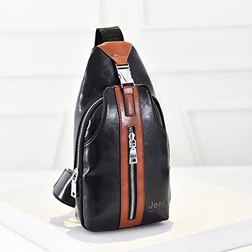 Outdoor-Sportarten Brust Taschen koreanische M?nner PU Leder Schulter diagonal Taschen