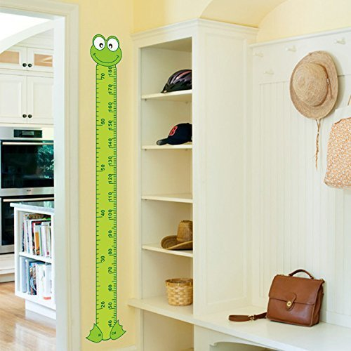 Copter shop newest cute interesting cartoon Frog Green baby children height measure wall stickers kids room decoration child play (Accu Ruler)