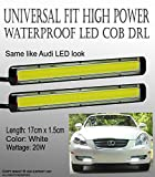 350z daytime running lights - ICBEAMER 1 pc 14cm Universal Daytime Running Light (DRL) High Power Gives Audi Look Bright LED COB [Color:Super White]