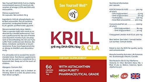 Aceite de Krill con astaxantina + CLA SYW. (60 cápsulas de 1000 mg ...