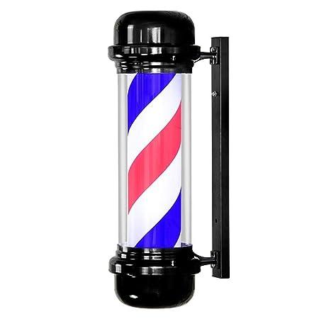 Poste de Barbero Impermeable Cabello Salón Tienda Firmar Luminoso ...