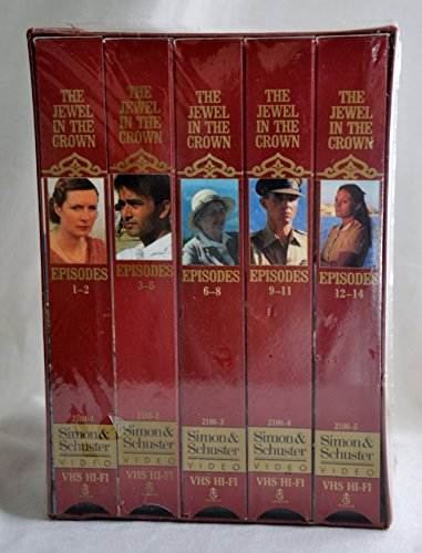 The Jewel in the Crown 5-tape set John D. & Catherine T. Granada TV edition