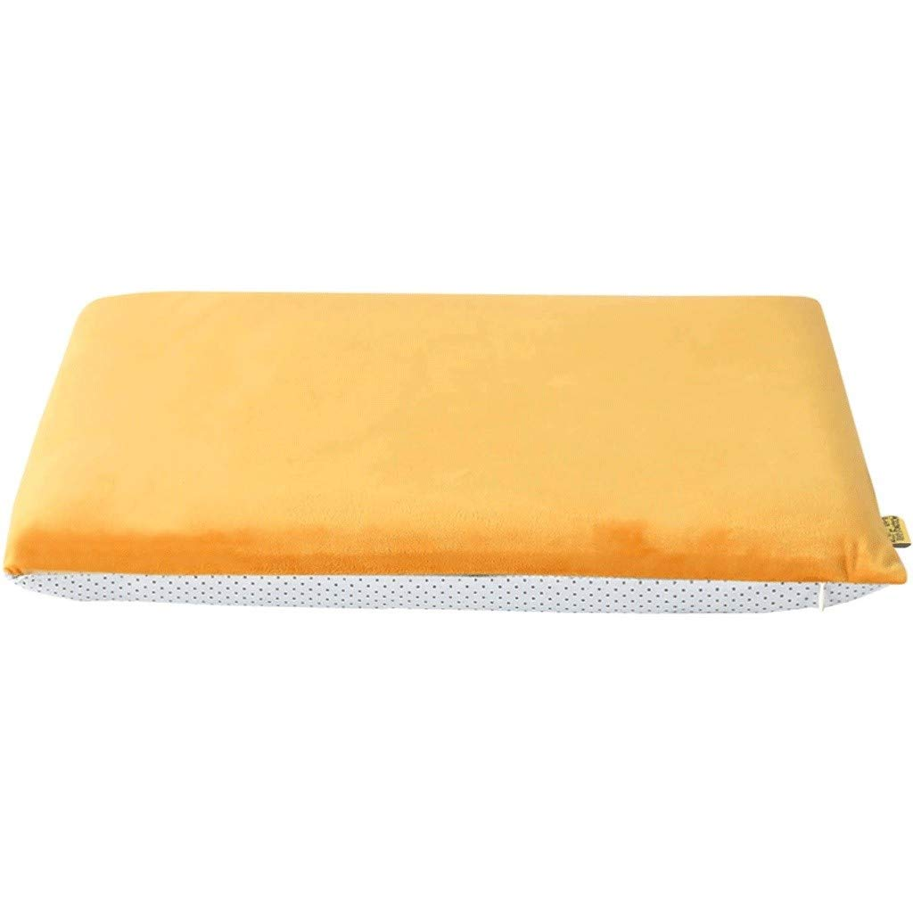 Ace Dzdd Velvet Cushions, Four Seasons Non-Slip Office Cushions, Memory Cotton Slow Rebound Sofa Cushion - Memory Foam Filling (Color : Orange, Size : 45cmX45cm) by Ace Dzdd