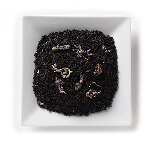 Mahamosa Blueberry Decaf Tea 2 oz- Flavored Decaffeinated Black Tea Blend (with loose leaf decaf black tea with blue mallow blossoms and blueberry flavor)