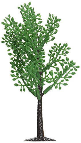 Oasis Supply 12-Piece Branch Tree with Stand for Cake Decorating and Sceneries, 4-Inch (Plastic Topper Tree)