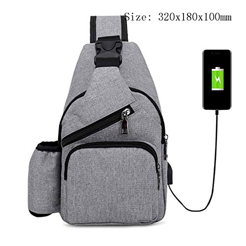 Recycled Vertical Messenger Bag - Male Leisure Sling Chest Pack Crossbody Bags for Men Messenger Canvas USB Charging Leather Handbag Shoulder Bags