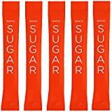WHITE SUGAR - Colors Collection HALLOWEEN ORANGE 500 individual Serving Stick Packets - U Parve/Kosher