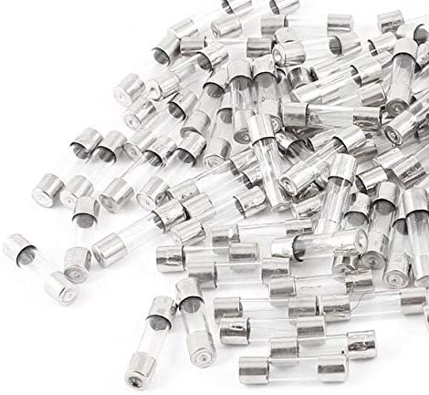 250V 1A 5mmx20mm Fast Blow Type Quick Glass Tube Fuses 100 Pcs