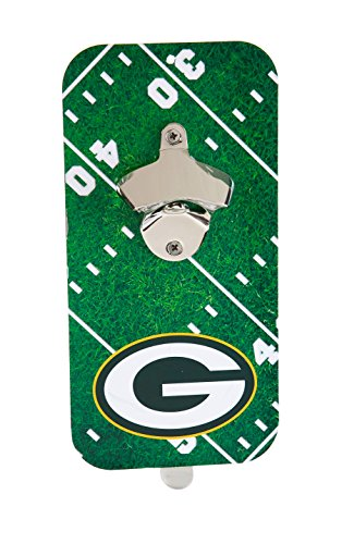 Team Sports America NFL Green Bay Packers Magnetic Clink N Drink Bottle Opener, Small, Multicolored -