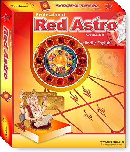 Red Astro 8 0 Pro  ( Language Hindi , English ) Astrology Software