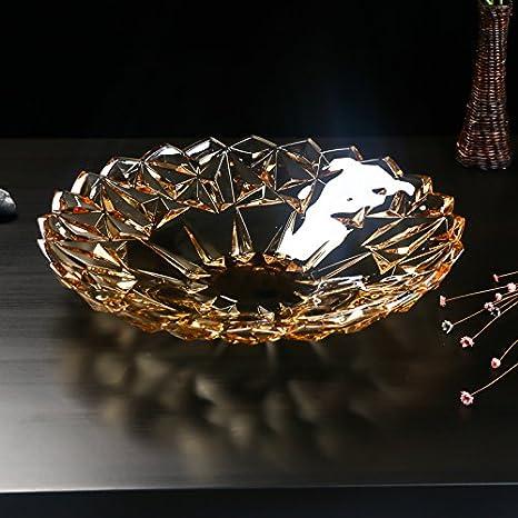 Salón moderno de alta definición Ideas épaissie cristal vidrio frutas cuenco frutas cuenco cuenco frutas plato de frutas Gran: Amazon.es: Hogar
