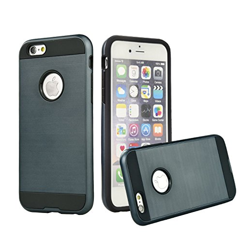 Soft Commuter Case for Apple iPhone 6 Plus (Navy Blue) - 6