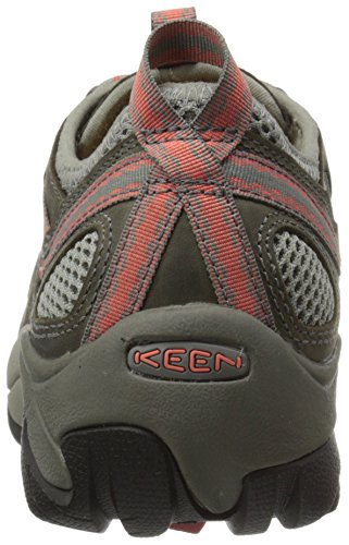Keen Utility Womens Atlanta Cool Soft Toe ESD Industrial and Construction Shoe Gargoyle/Hot Coral