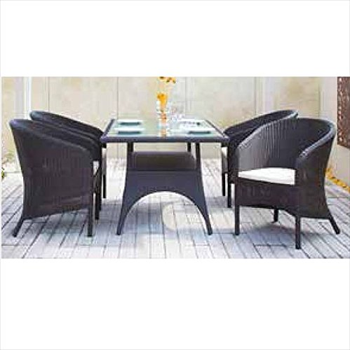 タカショー イジアン テーブルチェア5点セット 『ガーデンチェア ガーデンテーブル セット』 B076KNRV2N