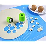 "Silicone Baking Mat with Measurements – Heat Resistant, BPA Free, Non-Stick Pastry Mat for Rolling Dough – Easy to Clean… 16 MAKES BAKING EASY AND FUN: Make your time in the kitchen more productive and fun with our pastry mat. It is amazingly flexible and stick resistant, you will not even need to use grease to get your baked dishes off it. Just what you need to bake like a pro. VERSATILILE USES: Our pastry mats can be used as a countertop protectors,table mats, or dinner mats. Ideal for kneading,baking,cooking,dough rolling,shaping bread rolls. They can also be used to prepare pizza,pastas, pie crusts, fondants and so on. KEEPS YOUR WORKTOP GOOD AS NEW: Baking is almost always a messy business,but not anymore. Aurora Gadgets silicone baking mat gives you a large 15.5""x 19.6""surface to do all your kneading,rolling,and shaping, keeping your worktop clean and good as new"