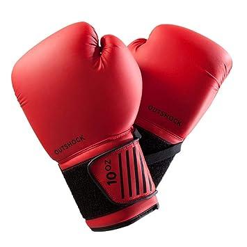 XBQJST Guantes De Boxeo para Principiantes: Rojo Y Negro, Guantes De Entrenamiento De Boxeo