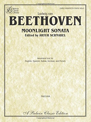 Moonlight Sonata (Sonata No. 14 in C-sharp Minor, Op. 27, No. 2) (Belwin Classic - Sheet Sonata Beethoven Music Moonlight