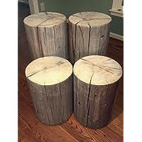Rustic Weathered Gray Poplar Stump Table ~ Bedside Table Sofa Table Bar Stool Stump Stool - 9-10 diameter Custom Heights Available - 18-29 Tall