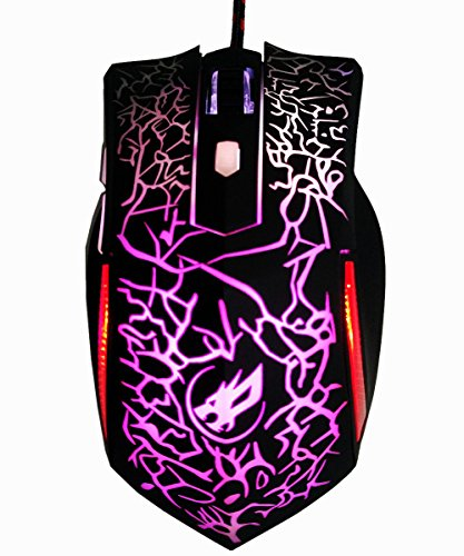 2.4GHz 2400DPI Optical Wired USB Gaming Mouse Mice With LED Light - 5