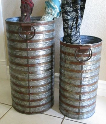 - Galvanized Umbrella Stand Set UMB49111