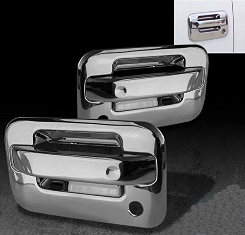 (MaxMate Fits 04-13 Ford F150 Not for Heritage Chrome 2 Doors Handle Cover With Passenger Side Keyhole No Key Pad)