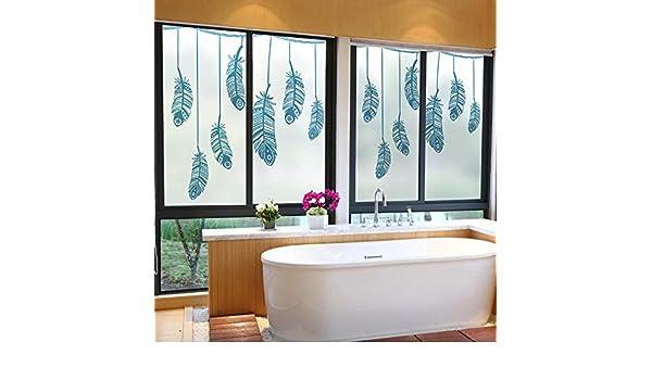 Vinilo para Ventana Pegamento eléctrico para puerta de película de vidrio esmerilado adhesivo para puerta corredera ventana de piso a techo adhesivo para ventana autoadhesivo protector solar-60 * 80: Amazon.es: Deportes y