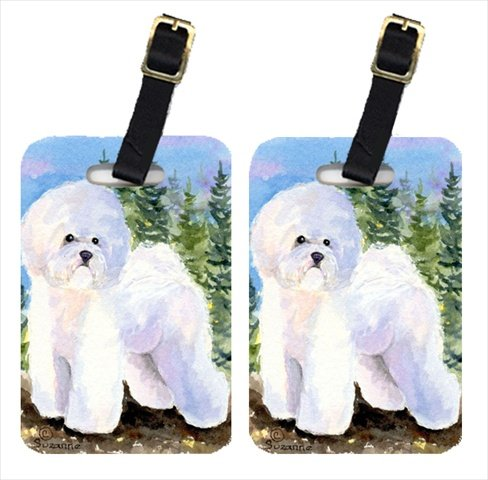 Carolines Treasures SS8916BT Bichon Frise Luggage Tag - Pair 244; 4 x 2.75 In. (Leather Frise Bichon Tag Luggage)