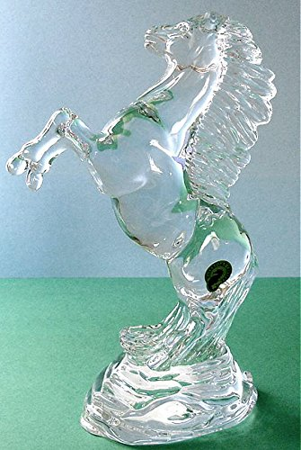 Waterford Crystal Rearing Horse Sculpture Made in Ireland New In Box