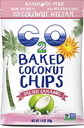 C2O Baked Coconut Chips, Salted Caramel, 1.4 Ounce (Pack of 12) (Water Salted)