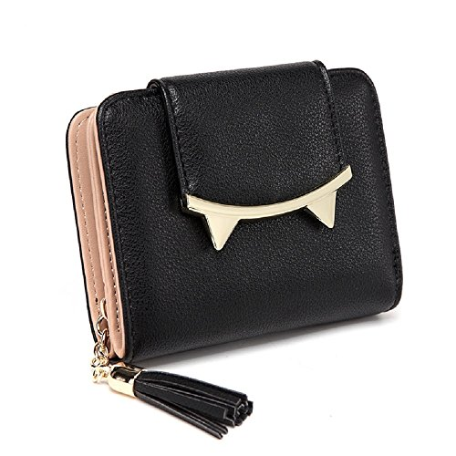 Tickets Cats (Women Cute Cat Anime Leather Short Wallet Clutch Female Purse Coin Card Holder Bag)