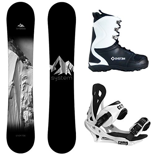 System Timeless and Summit Complete Men's Snowboard Package New 2019
